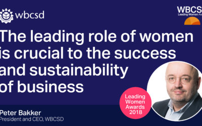 WBCSD announces second edition of the Leading Women Awards to celebrate the leadership of women working to achieve the SDGs