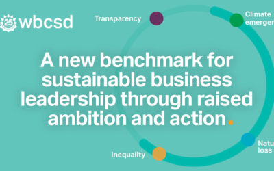 WBCSD raises the bar for sustainable business leadership